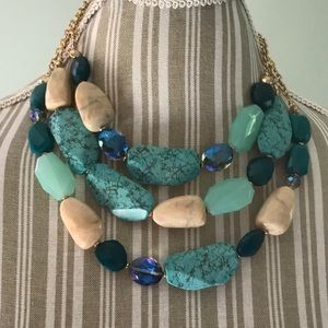 Jewelry - Blue 3 Strand Necklace